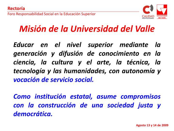 Misión de la Universidad del Valle