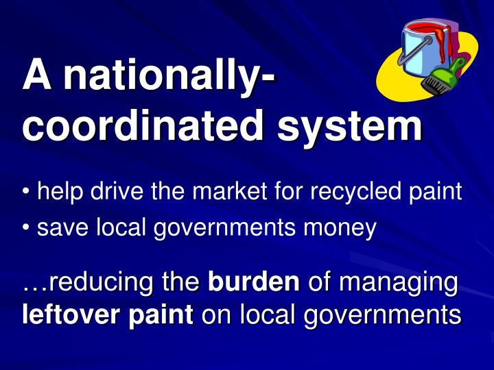 A nationally-coordinated system