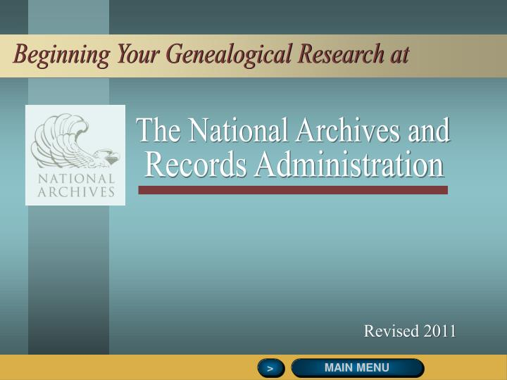 Beginning Your Genealogical Research at