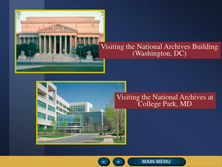 Visiting the National Archives Building