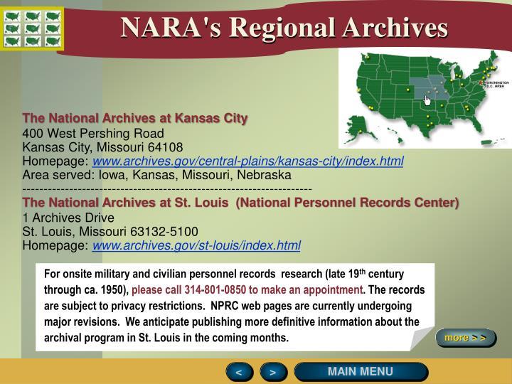 NARA's Regional Archives