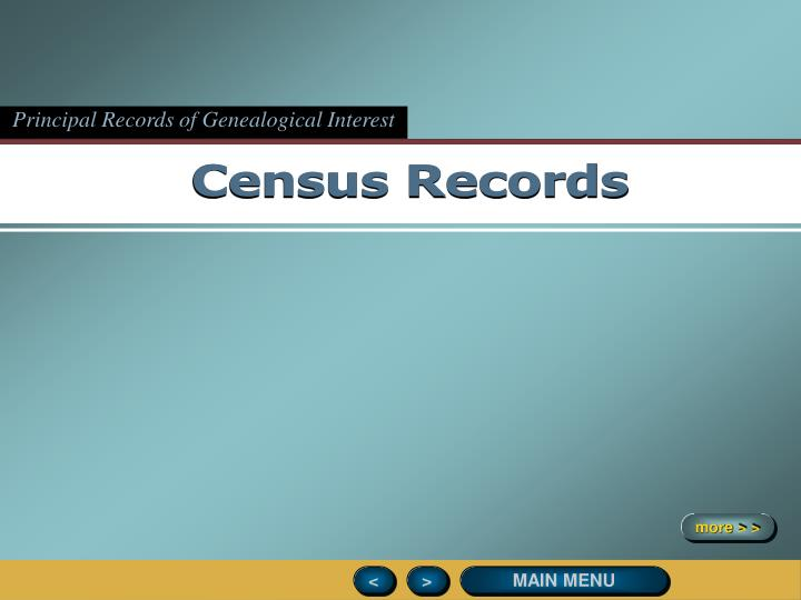 Principal Records of Genealogical Interest