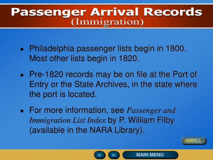 Passenger Arrival Records