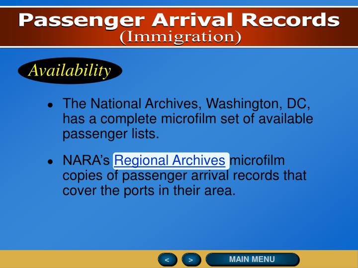 Passenger Arrival Records