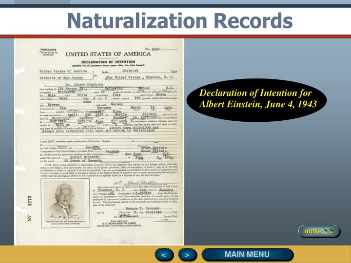 Naturalization Records