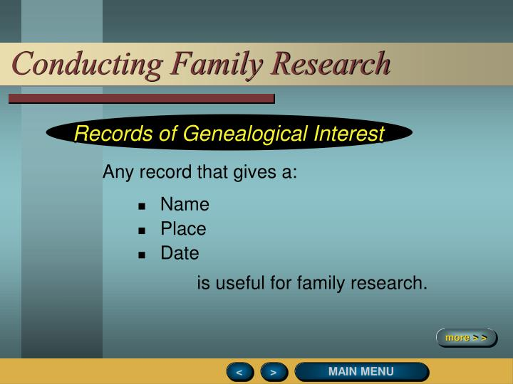 Conducting Family Research