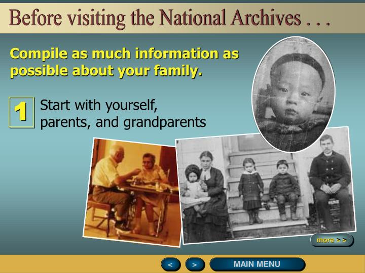 Before visiting the National Archives . . .