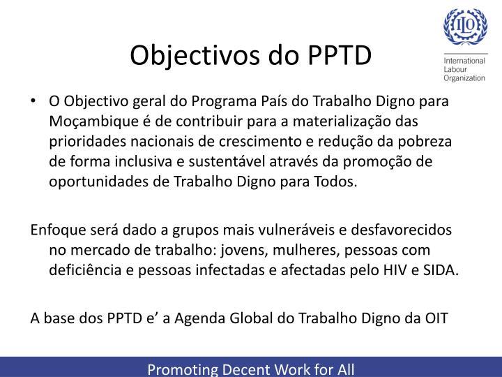 Objectivos do PPTD