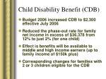 child disability benefit cdb