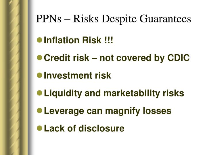 PPNs – Risks Despite Guarantees