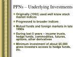 ppns underlying investments