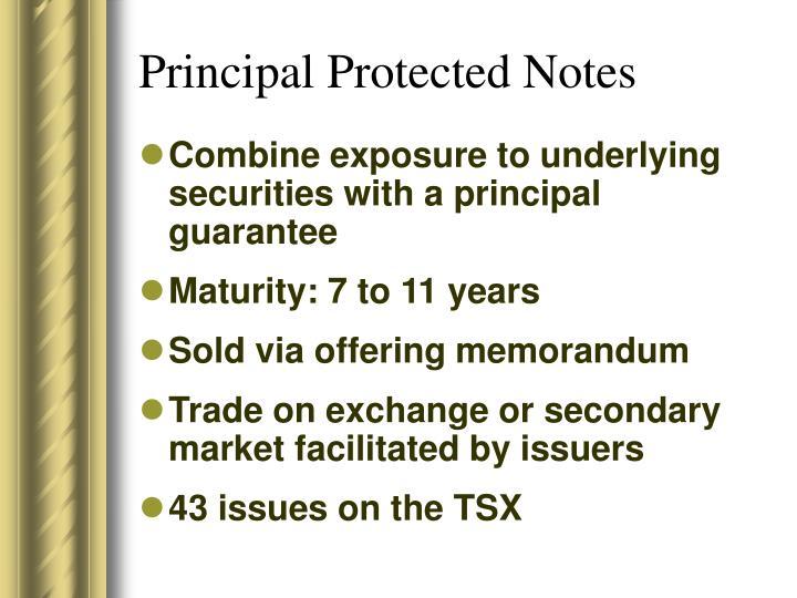 Principal Protected Notes