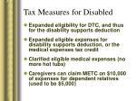 tax measures for disabled