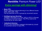 extra savings with dimming