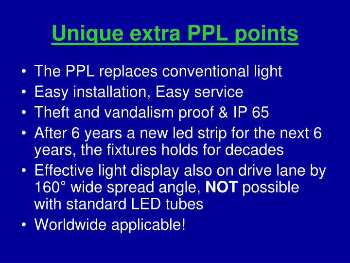 Unique extra PPL points