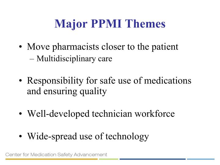 Major PPMI Themes
