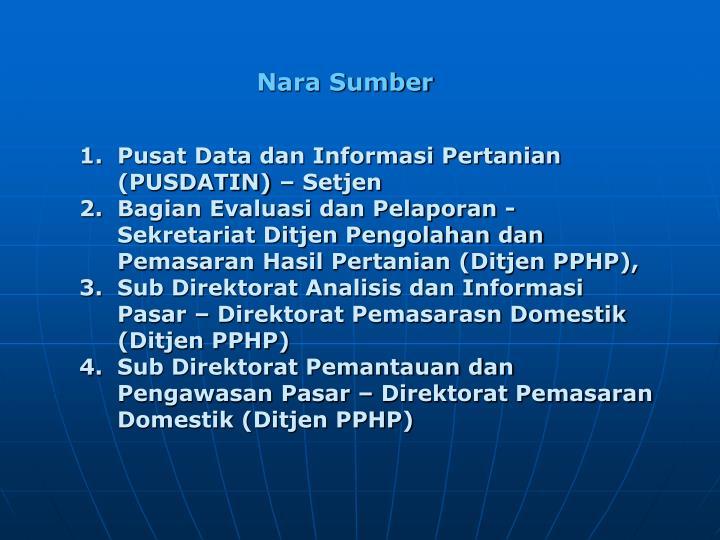 Pusat Data dan Informasi Pertanian (PUSDATIN) – Setjen