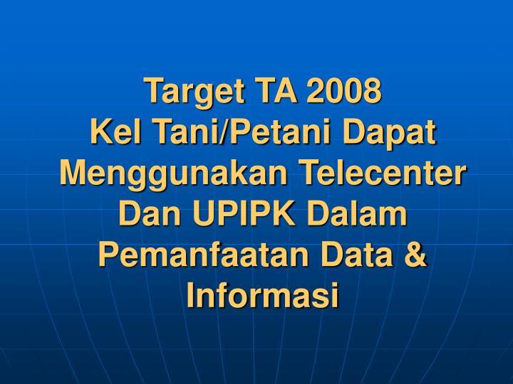 Target TA 2008