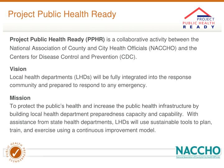 Project Public Health Ready