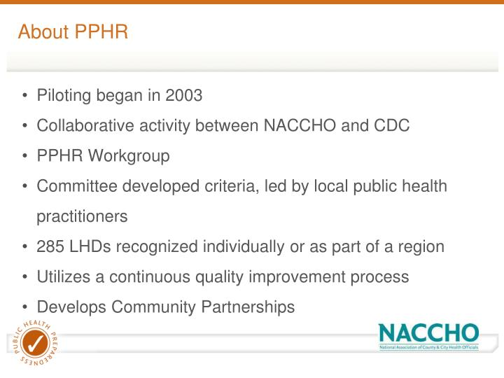 About PPHR