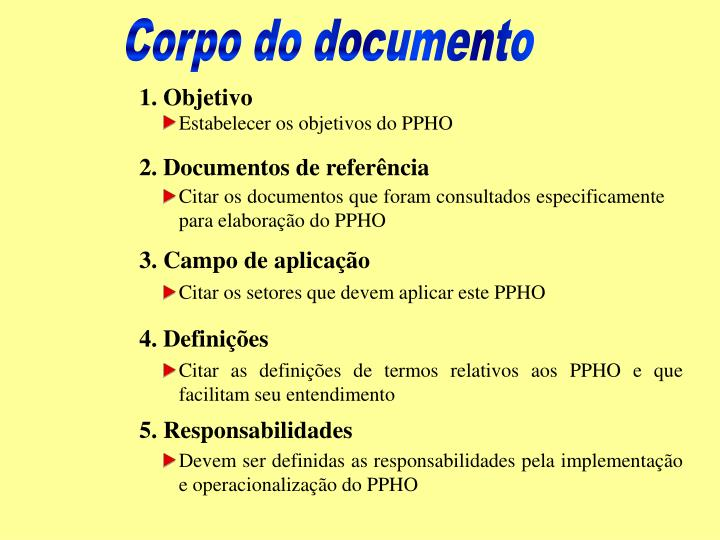 Corpo do documento