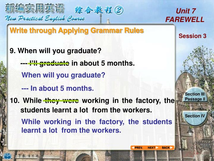 Write through Applying Grammar Rules