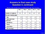 answers to final case study question 4 continued