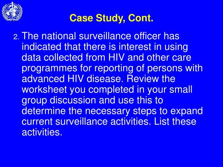 Case Study, Cont.