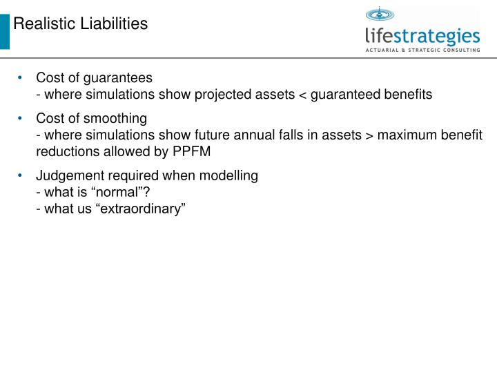 Realistic Liabilities