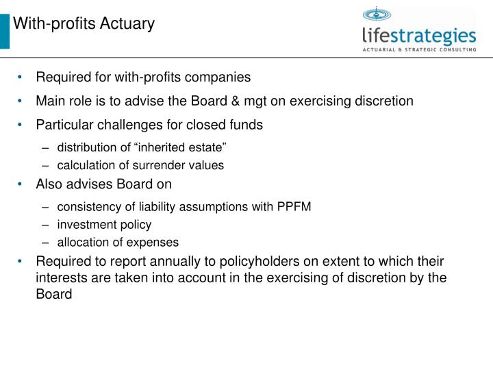 With-profits Actuary