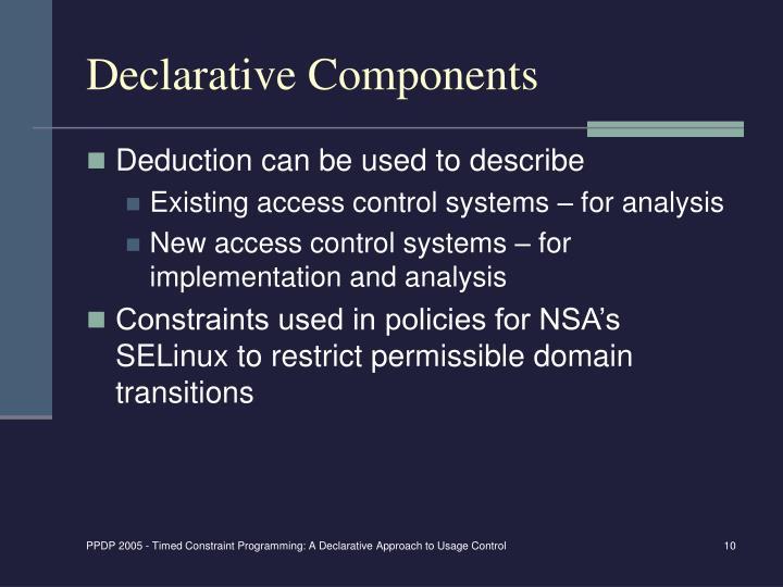Declarative Components