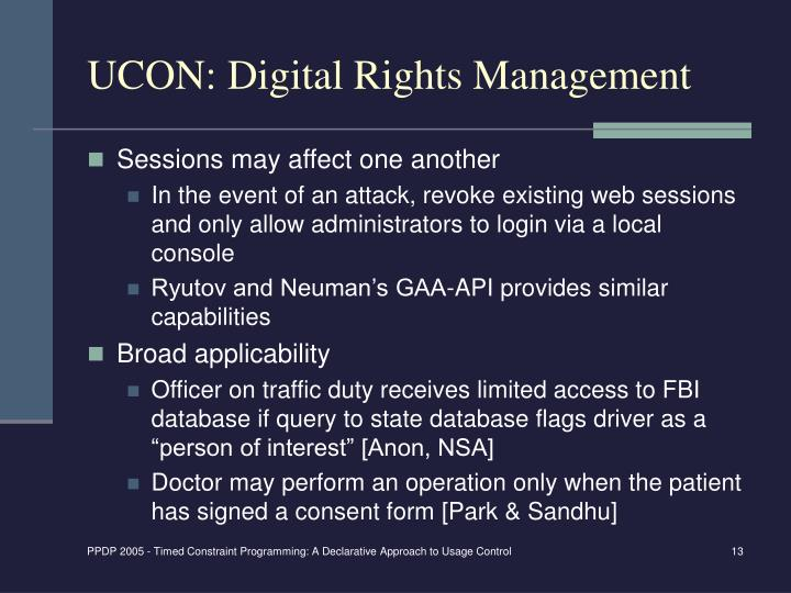 UCON: Digital Rights Management
