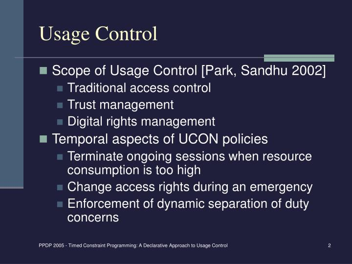 Usage Control