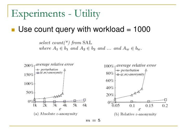 Experiments - Utility