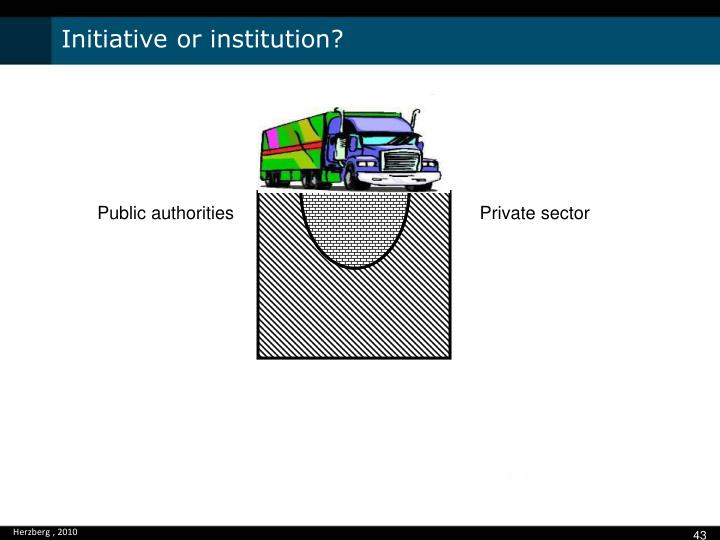 Initiative or institution?