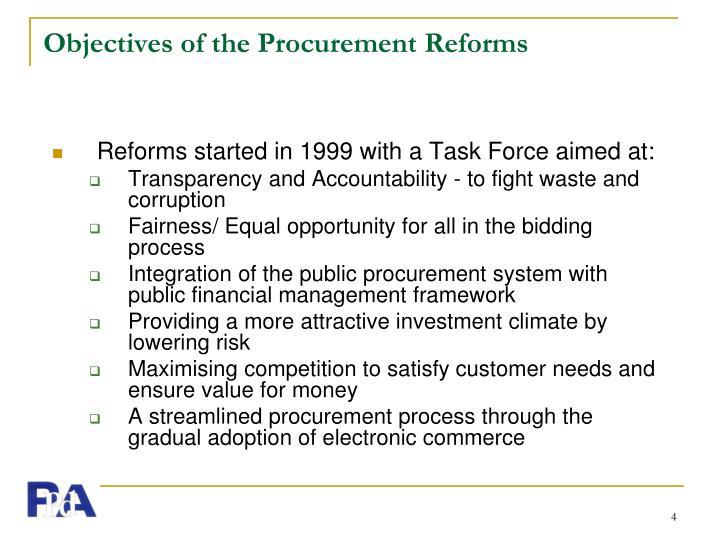 Procurement Reforms Powerpoint Ppt Presentation - #Summer