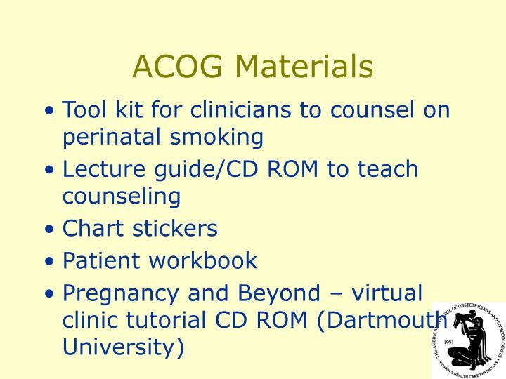 ACOG Materials