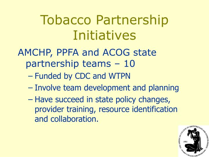 Tobacco Partnership Initiatives