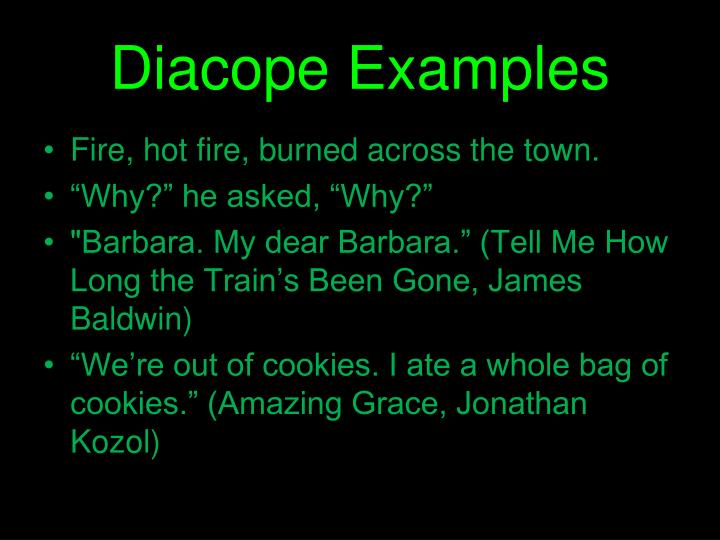 Diacope Examples
