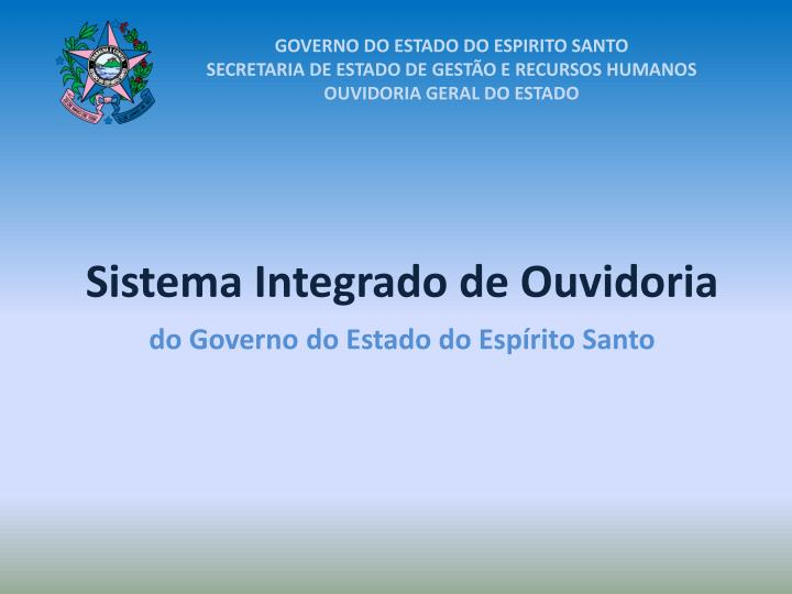 GOVERNO DO ESTADO DO ESPIRITO SANTO
