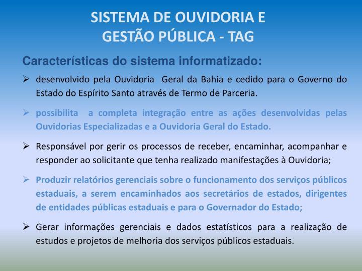 SISTEMA DE OUVIDORIA E