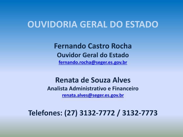 OUVIDORIA GERAL DO ESTADO