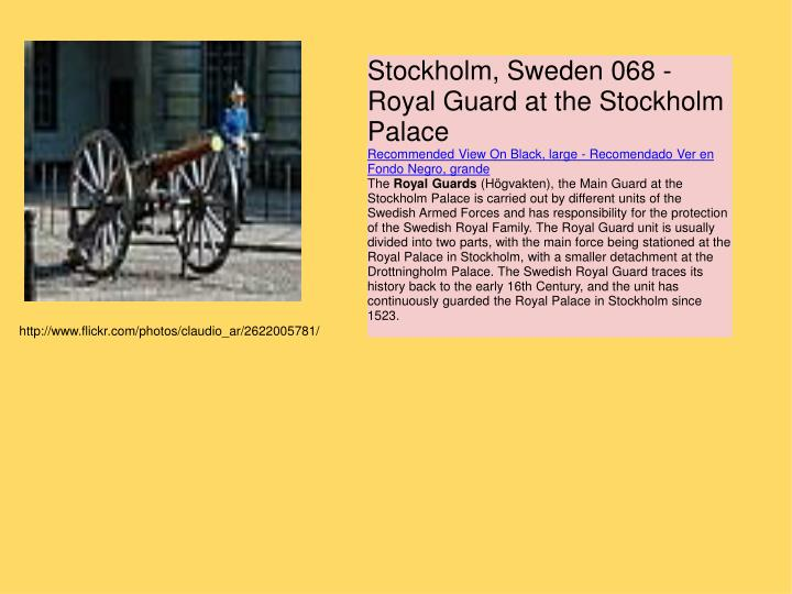 Stockholm, Sweden 068 - Royal Guard at the Stockholm Palace