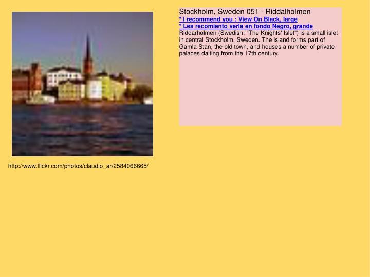 Stockholm, Sweden 051 - Riddalholmen