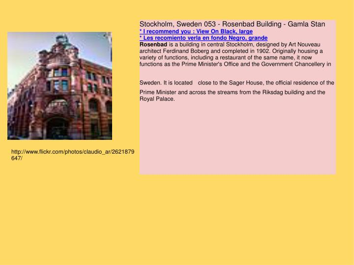 Stockholm, Sweden 053 - Rosenbad Building - Gamla Stan