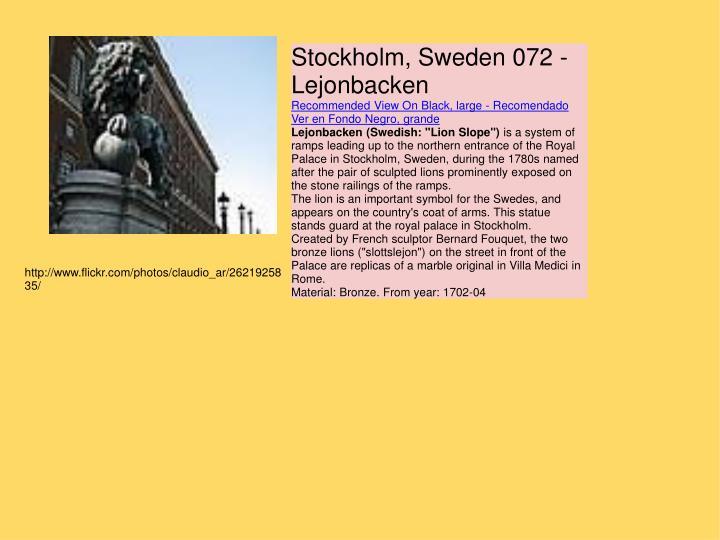 Stockholm, Sweden 072 - Lejonbacken