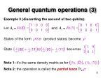 general quantum operations 3