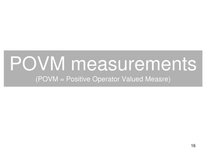 POVM measurements