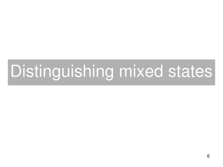 Distinguishing mixed states
