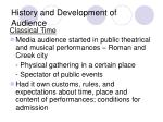 history and development of audience